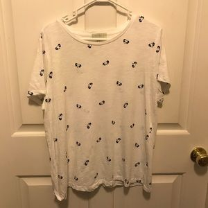 Panda patterned tee shirt